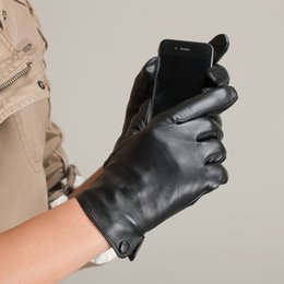 Wholesale Nappa Leather Gloves - Wholesale-Free Shipping Kursheuel Men Gloves Nappa Leather Soft Suede Long Sheepskin Gloves Winte Warm Glove's KU-011