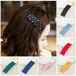 Wholesale Cute Hair Bangs - Hairpin Korean Sweet little dot hair clip side hairpin Korean hair accessories bangs clip Cute Headwear Women Hair jewelry