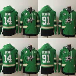 chaqueta de invierno verde para hombre Rebajas Mens Dallas Stars Hoodies Jersey de hockey 14 Jamie Benn 91 Tyler Seguin Sudaderas Winter Jacket Green Envío gratis