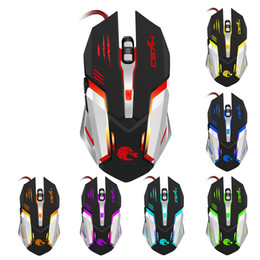 Wholesale Optical Machines - Machine Mice Professional Wired Gaming Mouse 7 Button 5500 DPI Mice Colorful LED Optical USB Computer Mouse Gamer Mice S100 Free DHL
