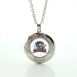 Wholesale Imitation Goods - New good-looking men jewelry locket necklace MONTREAL ALOUETTES rugby jewelry football sport accessory gift for father NF058