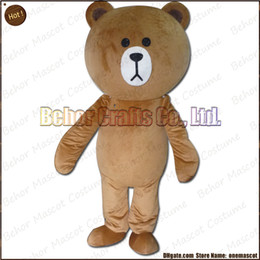 Wholesale Cheap Plus Size Teddies - New bear mascot costume EMS free shipping, cheap high quality carnival party Fancy plush walking Teddy bear mascot cartoon adult size.