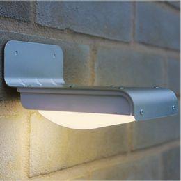Wholesale 16 Led Solar Outdoor - 16 LEDs Sound Sensor Solar Power Light Outdoor led Light lamp Wall Light Waterproof Light solar garden light solar lights