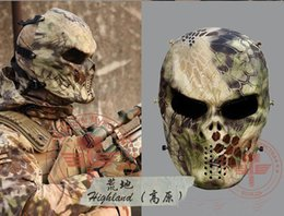 Wholesale Military Face Camouflage - Drop Shipping new Mandrake Camouflage Tactical Mask Outdoor Military Wargame Paintball Full Face Airsoft Tactical Skull Masks