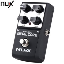 Wholesale Nux Distortion - NUX Metal Core Distortion Effect Pedal True Bypass Guitar Effects Pedal 2-Band EQ Tone Lock Preset Function Guitar Parts