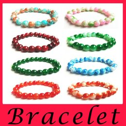 Wholesale Wholesale Plate Glass Prices - Pearl Bracelet agate Glass Bracelet small gift gift gift wholesale manufacturers direct selling price Charm Bracelet