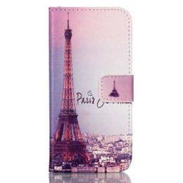 Wholesale Iphone Case Leather Cartoon - Cartoon Wallet Case For iphone 5s SE 6 6s 7 Plus For Samsung S6 S7 edge Leather Paiting Stand Flip Wallet Case