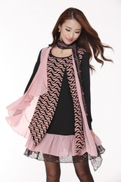 Wholesale Lace Ruffle Scarf - winter new dress, fake two long-sleeved   knit   scarf   large size dress (W362)
