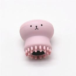 Wholesale Face Wash Blackheads - Wash Brushes Super Little Cute Octopus Face Cleaner Massage Soft Silicone Facial Brush Face Cleansers Blackhead Spot Acne retail box