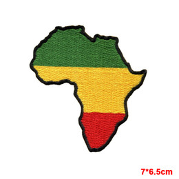 clothes repair Promo Codes - Africa flag of Judah flag rasta rastafarian reggae applique embroidery iron-on patch can repair clothes patch
