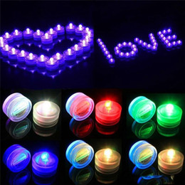 Wholesale Color Changing Tea Light Led - LED Submersible Waterproof Tea Lights battery power Decoration Candle Wedding Party Christmas High Quality decoration light free shipping