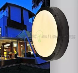 Wholesale Modern Flats - NEW Modern Round Flat Led Light Outside Porch Lights Waterproof LED Ceiling Lamp Indoor Bathroom Lamp Outdoor Garden Lights AC 85V-265V MYY