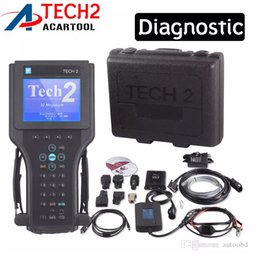 Wholesale Gm Plastics - DHL free shipping GM TECH2 diagnostic tool (GM, OPEL,SAAB ISUZU,SUZUKI HOLDEN) For Vetronix gm tech 2 scanner With black plastic box
