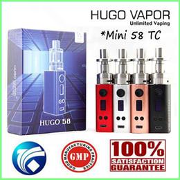 Wholesale E Ciagrette - 100% Authentic HUGO Mini 85W TC Kits E ciagrette Vaporizer Vape Mods Huge Vapor 0.06~3.0ohm 1~58W VS HUGO 200W Boxer Mod