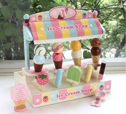 Wholesale Play Food Ice Cream - Baby Toys Mother Garden Strawberry Wooden Ice Cream Shop Play Food Children Wooden Educational toys Play House Toy Gift