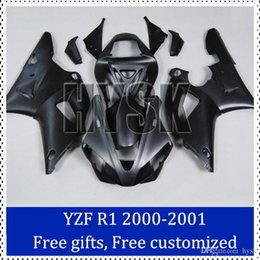 Wholesale Custom Sportbike Fairings - Sportbike fairing kits for Yamaha 2000-2001 YZF R1 Matt black Motorbike Cowling 00 01 YZF-R1 Custom Painting Motorcycle Fairing