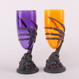 Wholesale Led Bar 18 - 18*5.7Cm New Arrival Halloween Party Bar KTV Props Lighting Cups LED Flashing Glass Eco-Friendly Water Cup Ghost Claw Pattern Cups