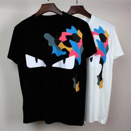 Wholesale Mens White Cotton Tee Shirts - 2016 summer new style t shirt Unisex Women Men Little monsters print men's tshirt homme T-shirt mens brand tee shirt