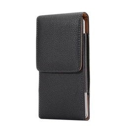 Wholesale Galaxy Note Belt Clip Holsters - Universal Clip belt Litchi Leather Pouch Sleeve Case Hip Holster Hasp For iPhone 7 8 6 6S Plus 5S Samsung Galaxy S6 S7 Edge S5 Note 5 4 Skin