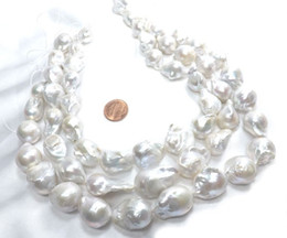 Wholesale South Sea Huge Pearl - Huge 15-25mm White Bead Nuclear Pearls Baroque Pearls South sea Pearls Geniune Pearls Loose Beads For Jewelry Making