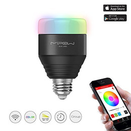 Wholesale Color Change Bulbs Control - 2016 New MIPOW Bluetooth Smart Bulbs 5W LED Light Bulb APP Smartphone Group Controlled Dimmable Bulbs Color Changing Decorative Party Lights