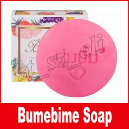 Wholesale Skin Whitening Essential Oils - New Bumebime soap Handwork bath bombs Mask Natural Skin Body wedding Soaps with Fruit Essential White Bright Oil soap