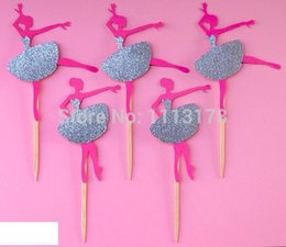 Wholesale Cheap Baby Showers Favors - cheap BALLERINA Party Treat Picks   Cupcake Toppers wedding baby shower birthday party favors