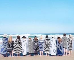 Toallas de precio de fábrica online-50 unids DHL 150 * 150 cm Ronda Toallas de Playa Mandala Bohemia Ronda Tapiz de Playa Hippie Throw Yoga Mat Toalla Indian Roundie Precio de Fábrica BKT047