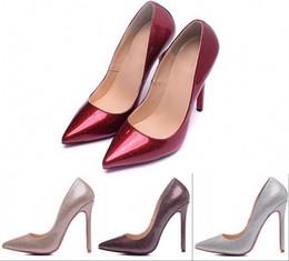 2019 lacets en laine de lavande Designer Chaussures Femmes De Luxe 2016 Glitter En Cuir Verni Sexy Hauts Talons 12cm Bout Pointu Chaussures De Mariage Pompes Nues