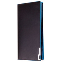 Wholesale Thin Leather Man Bags - Wholesale- Fashion Men's Wallet Multifunctional Men's Leather Bag Long Thin Wallet Male Money Bag Coin Card Holder Purses Flip Up Hot Sale