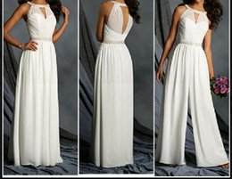 Wholesale Jumpsuits Images - New Arrival Chiffon Jumpsuit Floor Length Crystal Sash Elegant For Evening Party 2018 Custom Made Cloth