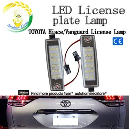 Wholesale Lights For Toyota Rav4 - 2pc X LED Number Plate light for Toyota Hiace Highlander RAV4 RX300 Scion xB with E8 Certificate