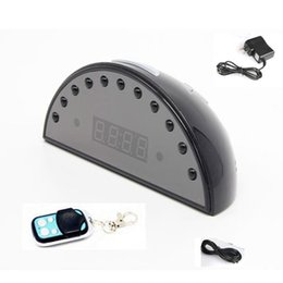 Wholesale Spy Camera Remote Controller - HD 1080P IR Night vision Remote controller Spy Clock Hidden Camera Video recorder,1080p clock spy camera
