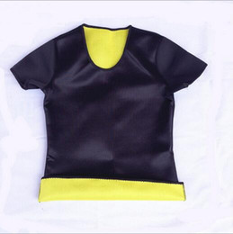 Wholesale Hot Spandex Vest - Hot Body Shapers T-shirt Hot Shapers Stretch Neoprene Slimming Vest Body Shaper Control Vest Tops High Qualit Fashion Free shipping