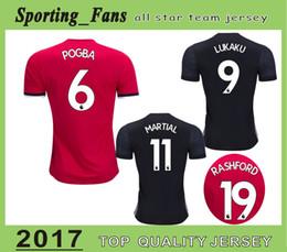 Wholesale football tshirt - Big Size 4XL!!! Pogba Jersey Mata Soccer Jersey Lukaku Football Tshirt Ibrahimovic Martial Rashford Ander herrera Mkhitaryan Camisa Jersey