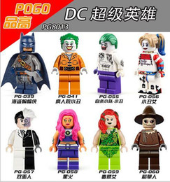 Wholesale Wholesale Batman Action Figures - Building Blocks Superes Heroes Joker Harley batman Scarecrow Starfire Poison Ivy Two-Face Minifigures Toys action figures christmas gifts