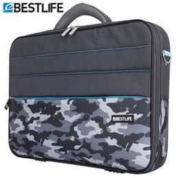 Wholesale Tablet Case Shoulder Bag - Wholesale- BESTLIFE 2016 Business 15.6 Laptop Bag Case Men Computer Shoulder Notebook Tablet Briefcase With Stripe Belt Office Worker Use