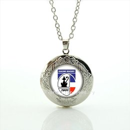 Wholesale Red Children Necklaces - The fashion Souvenirs jewelry gift locket necklace Daom Rugby Newest mix 32 sport team necklace for children and kids NF016