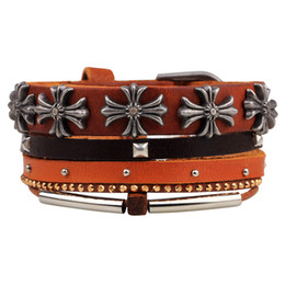 Wholesale Leather Cross Word Bracelet - new 2017 rope bracelet weave words alloy multilayered diy bracelet religious act the role ofing is tasted