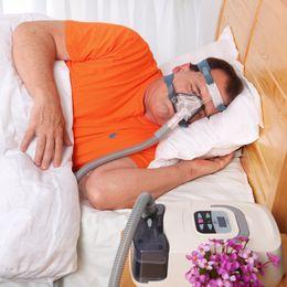Wholesale Apnea Mask - CE FDA Approved Home Use Portable CPAP Machine Respirator for Sleep Apnea OSAHS OSAS Snoring People W Nasal Mask Headgear Tube Bag