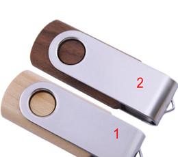 Wholesale Thumb Memory Stick - 256GB 128GB 64GB 32GB 16GB 8GB Swivel Wood Wooden USB Drive Memory Flash Thumb Sticks Pendrive