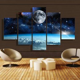 Wholesale Cheap Wall Pictures Paintings - 5 Panel Forest Painting Canvas Wall Art Picture Home Decoration Living Room Canvas Print Modern Painting--Large Canvas Art Cheap Elephant029