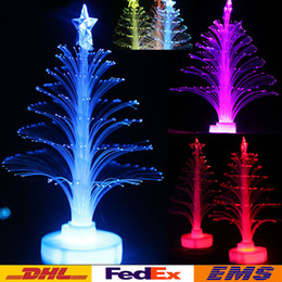 Wholesale Wholesale Fiber Optic Christmas Trees - Colorful LED Christmas Tree Fiber Optic Nightlight Holiday Party Lighting Decoration Christmas Xmas Tree Kids Children Gift WX-C25