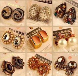 Wholesale Earring Nails - 10Pairs lot Mix Style Fashion Stud Earrings Nail For Gift Craft Jewelry Earring EA050* Free Shipping