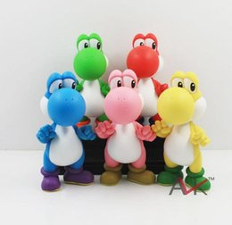 Wholesale Super Mario Plush Figures - High Quality kids toy Soft plastic Super Mario plastic Yoshi Plush Doll Anime 12cm Cos Figure toys gift