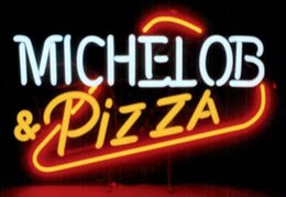 "Wholesale Custom Pizza - Michelob Pizza Neon Sign Custom Handmade Real Glass Tube Store Beer Bar Restaurant Club Commercial Advertising Display Neon Signs 19""x15"""