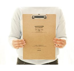 Wholesale Wooden File - Wholesale-(2 Pieces Lot) Paper Folders Office Supplies Folder Storage Retro File Folder Organizer estuches escolares 2015 Organizer