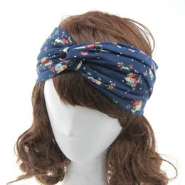 Wholesale Twist Knot Headwrap - Headbands for Women Flower Headwrap Turban Headband Knot Twisted Head band Hair Bands Girls Sport Running Yoga Hairband Hair Accessories