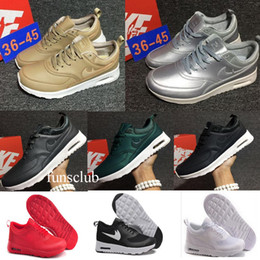 Wholesale Shoes Mans Air 87 - Top Quality Air 87 90 Rio Olympics Running Shoes For Women & Men Gold Silver Sneakers Air thea Sports Shoes Eur 36-45