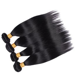 Wholesale Remy 33 - Brazilian Straight Human Hair Weave Bundles 1#, 2#,4#,30#,99j#,33#,27# Color Malaysian Remy Human Hair Weaving